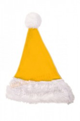 yellow Santa's hat for children