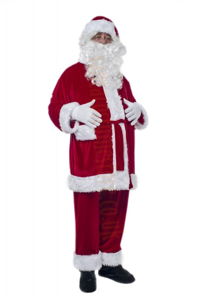 velour Santa suit -  jacket, trousers and hat