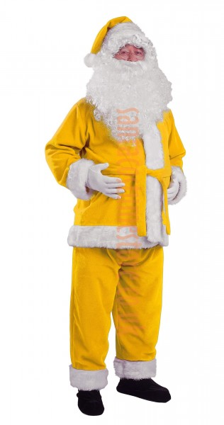 yellow santa suit jacket trousers and hat. Black Bedroom Furniture Sets. Home Design Ideas